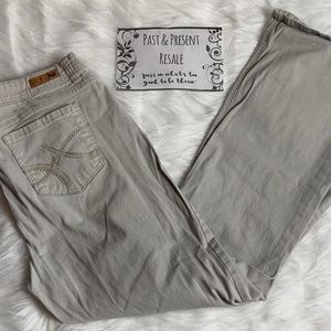 lei Pants - Lei Sophia Hipster Flare Khakis Size 17 Regular